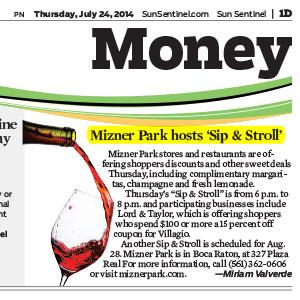 Mizner Park Slip and Stroll 07 24 2014