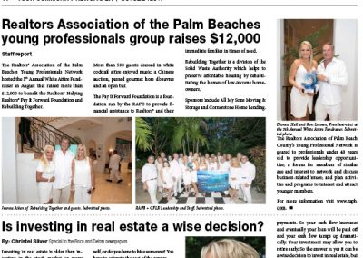 Realtors Association of the Palm Beaches Delray Newspaper Oct 2017
