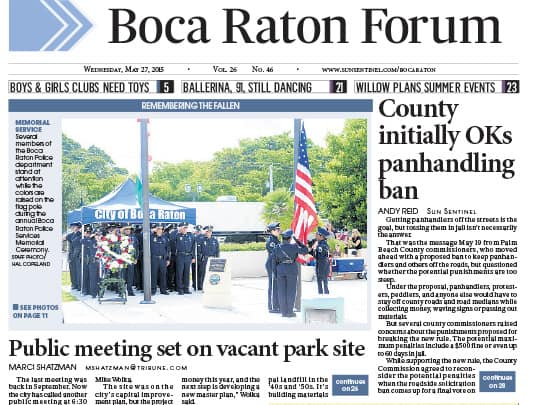 Polin PR placement in Boca Raton Forum