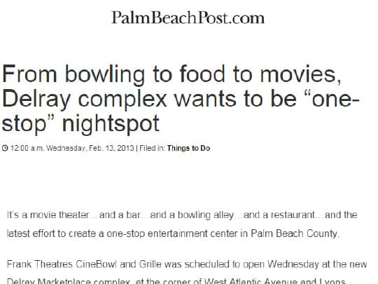 Polin PR Frank Theaters Palm Beach Post