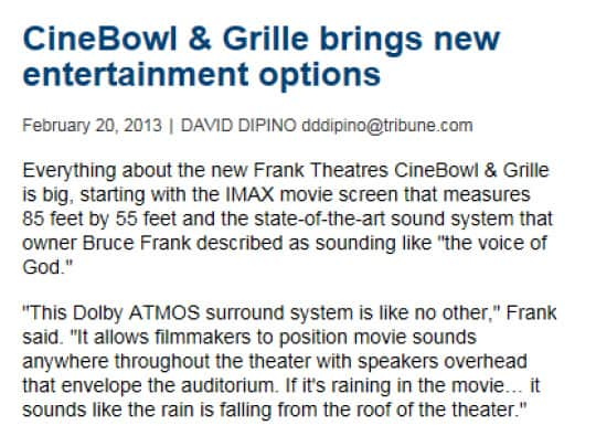 Poin PR Frank Theaters Sun Sentinel