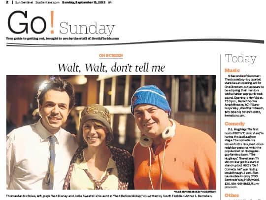 Polin PR Walt Before Disney Sun-Sentinel 091315