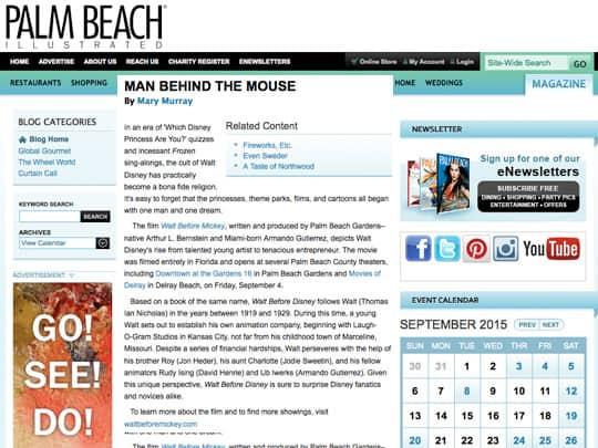 Polin PR Walt Before Mickey Palm Beach Illustrated