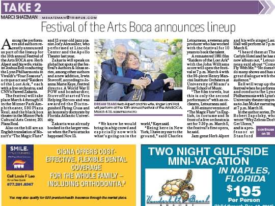 Polin PR Festival of the Arts BOCA Delray Tribune placement