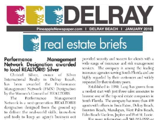 Polin PR Placement Lang Realty Pineapple News 012016