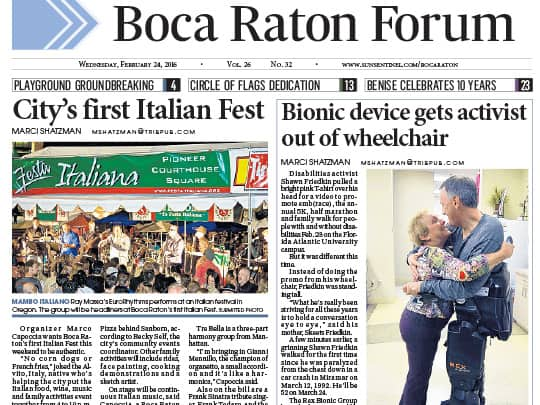 Polin PR placement for City of Boca Raton on BOca Raton forum