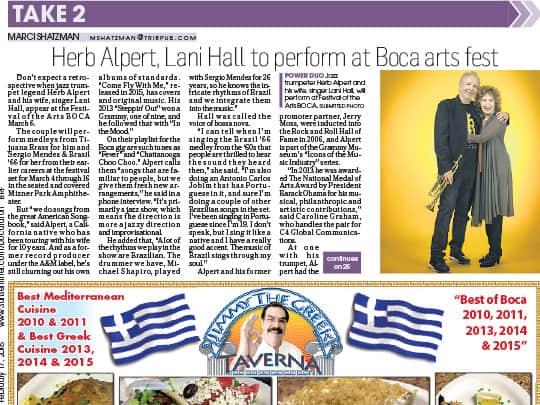 Polin PR Festival of the Arts BOCA Boca Raton Forum cover story