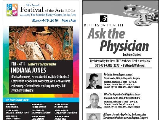 Polin Pr Festival of The Arts BOCA Sun-Sentinel ad