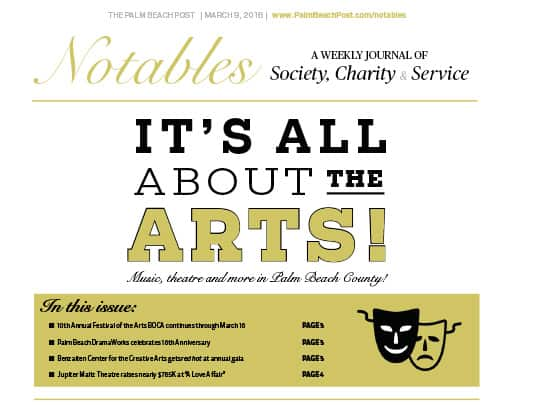 Notables cover page It's All About the Arts