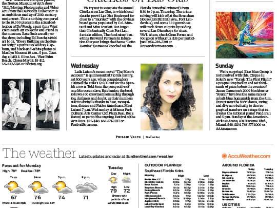 Polin Pr Sun-Sentinel cover on Lalia Lalami