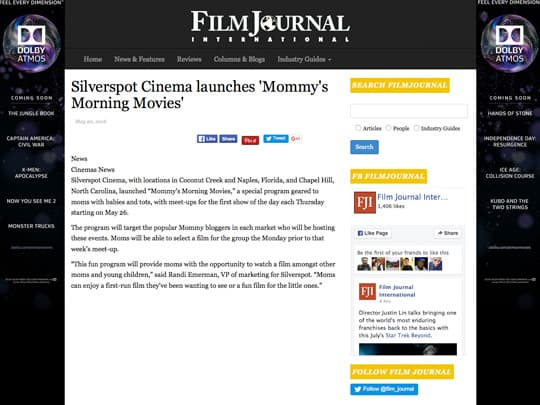 polin pr silverspot cinema story on film journal web page