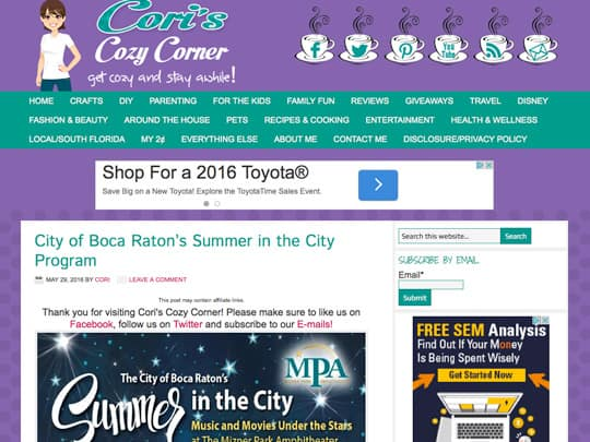 polin pr city of boca raton coris cozy corner article