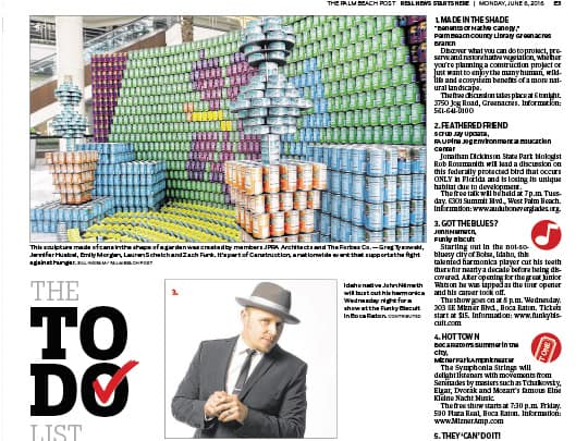 Polin PR placement in Palm Beach Post