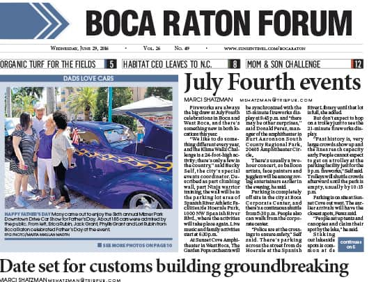 Polin PR placement july fourth events boca raton