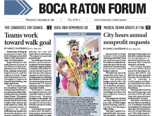 Boca Raton Forum cover brazilian beat polin pr placement