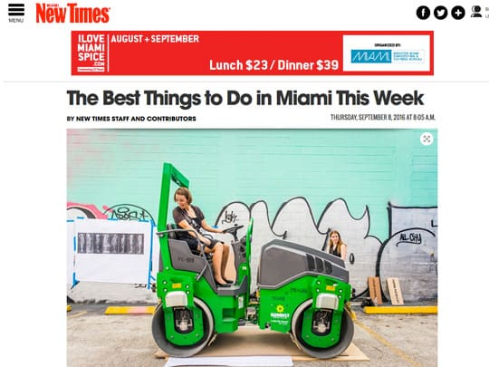 MiamiNewTimes.com best things to do in Miami this Week