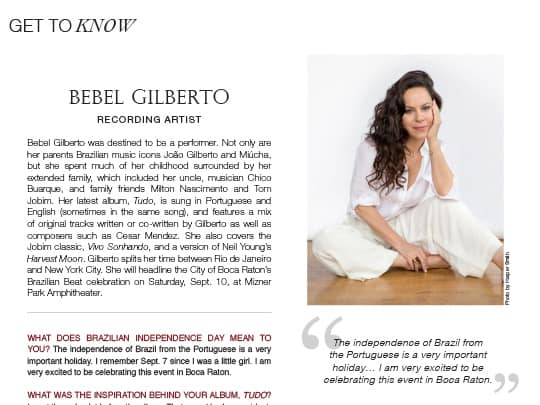 interview with Bebel Bilberto