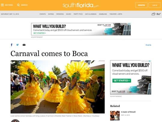 Carnival comes to Boca article SouthFlorida.com