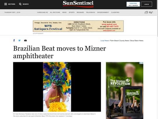 Brazilian Beat moves to Mizner Amphiteheater