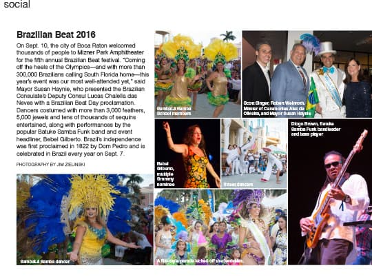 South Florida Luxury Guide cover of Brazilian Beat 2016