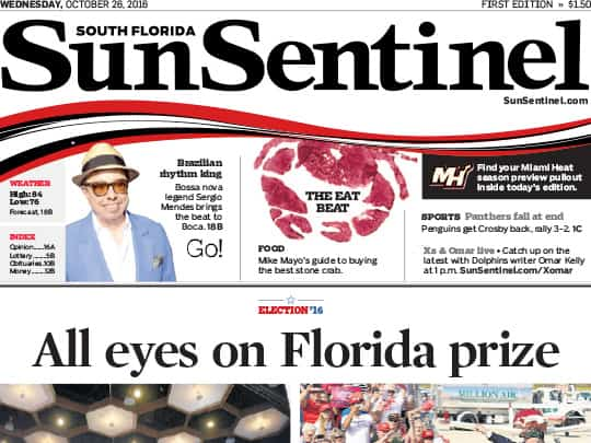 Sun-Sentinel cover Polin PR placement for Festival of the Arts BOCA