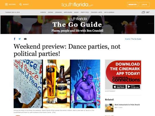 SouthFlorida.com The Go Guide article