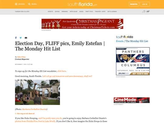 SouthFlorida.com web page