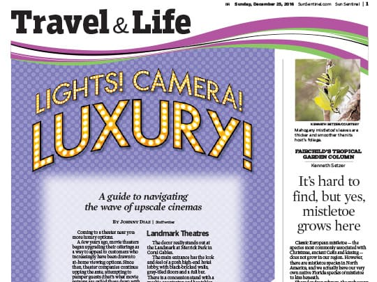 Sun Sentinel Travel & Life section placement