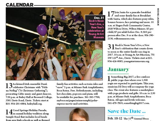 City and Shore Magazine event listing