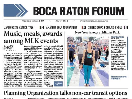 Boca Raton Forum article