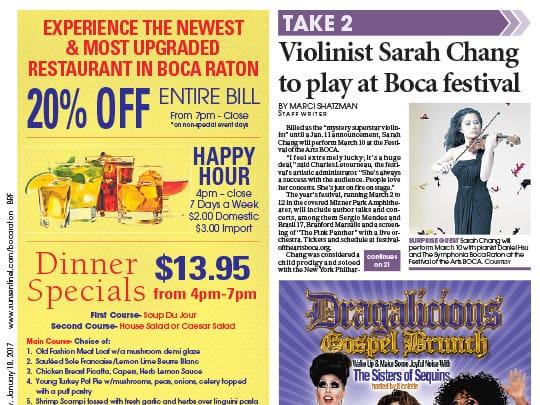 Sarah Change Placement in Boca Forum