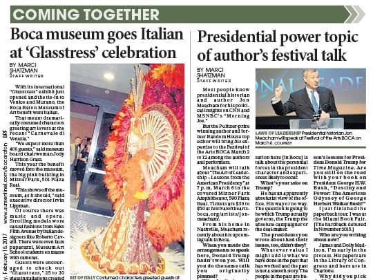 Boca Raton Forum article Jon Meachum