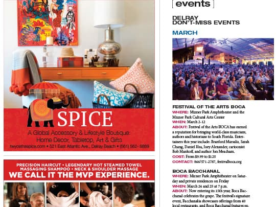 Delray Magazine Events page