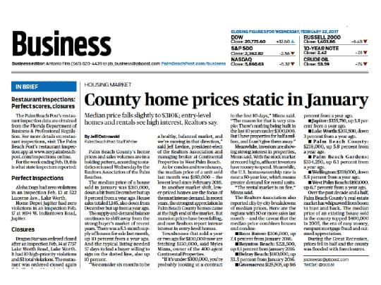 Business section palm beach post