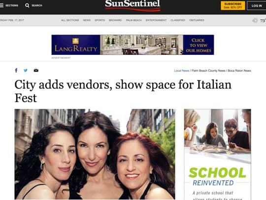 Sun Sentinel article