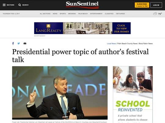 Sun-Sentinel.com Meachum story web page