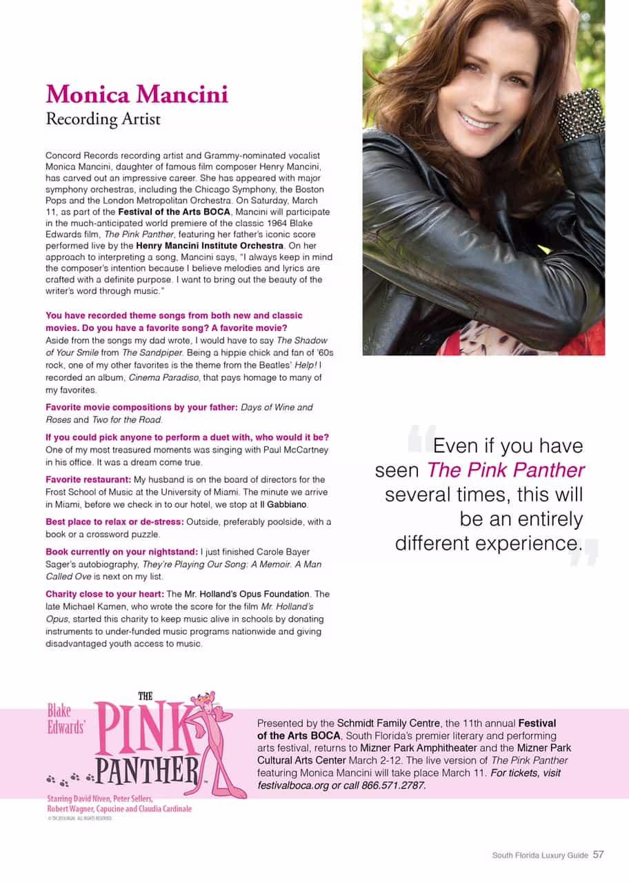 South Florida Luxury Guide article on Monica Mancini - Polin PR