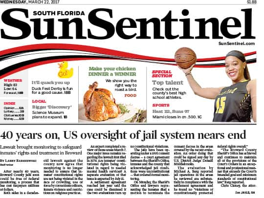 Sun-Sentinel front page