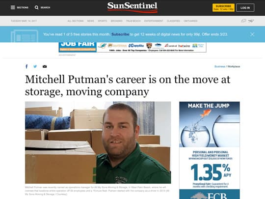 All My Sons Sun-sentinel.com article