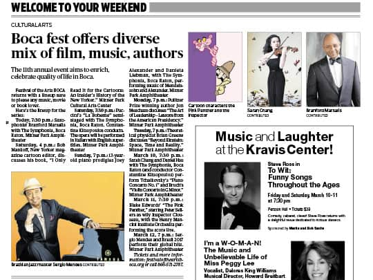 Palm Beach Post article Boca Fest