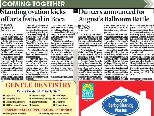 standing ovation kicks off arts festival in boca