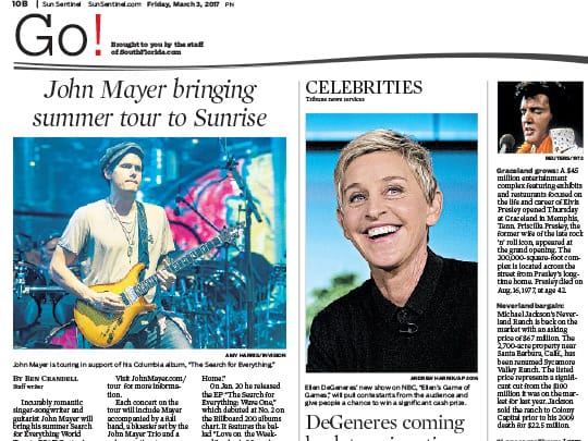 sun-sentinel Polin PR placement for Festival of the Arts BOCA