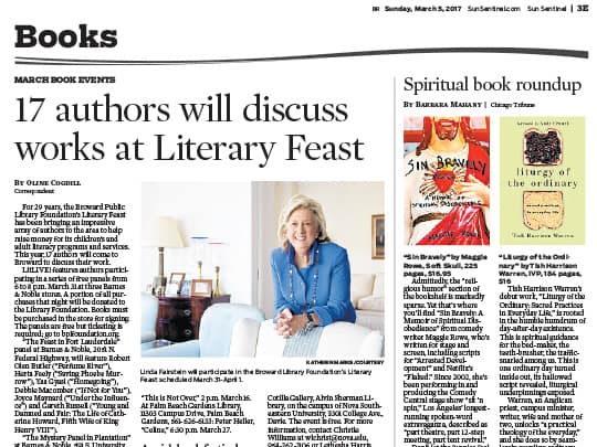 Sun-Sentinel Books section Polin PR placement