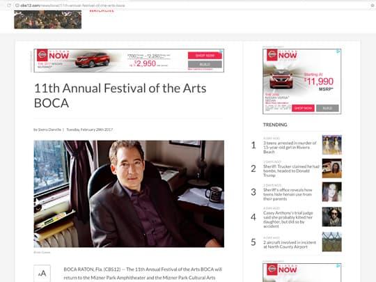 sun-sentinel.com article on festival of the arts boca