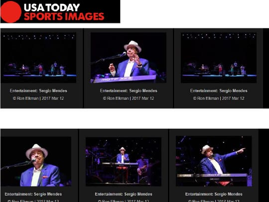 USA Today images of Sergio Mendes concert Festival of the arts boca