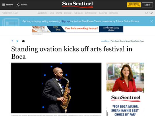festival of the arts boca Sun-Sentinel.com screenshot