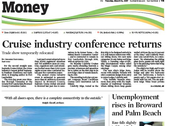 sun-sentinel Money page article Lang realty open house