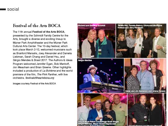 festival of the arts boca South Florida Luxury Guide article