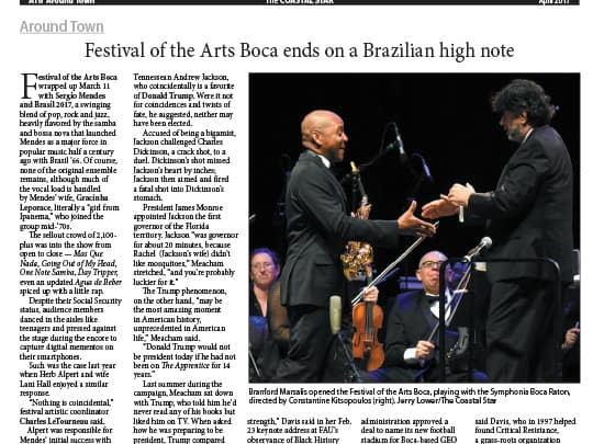 Festival of the Arts BOCA Coastal Star article
