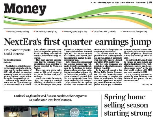 Sun-Sentinel Money section Realtors of Palm Beach